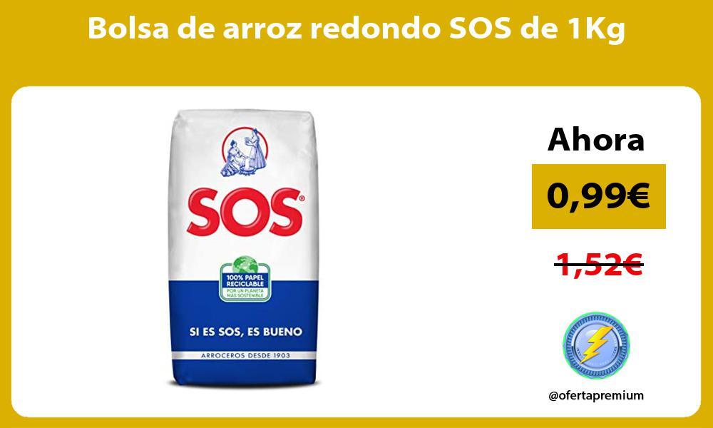 Bolsa de arroz redondo SOS de 1Kg