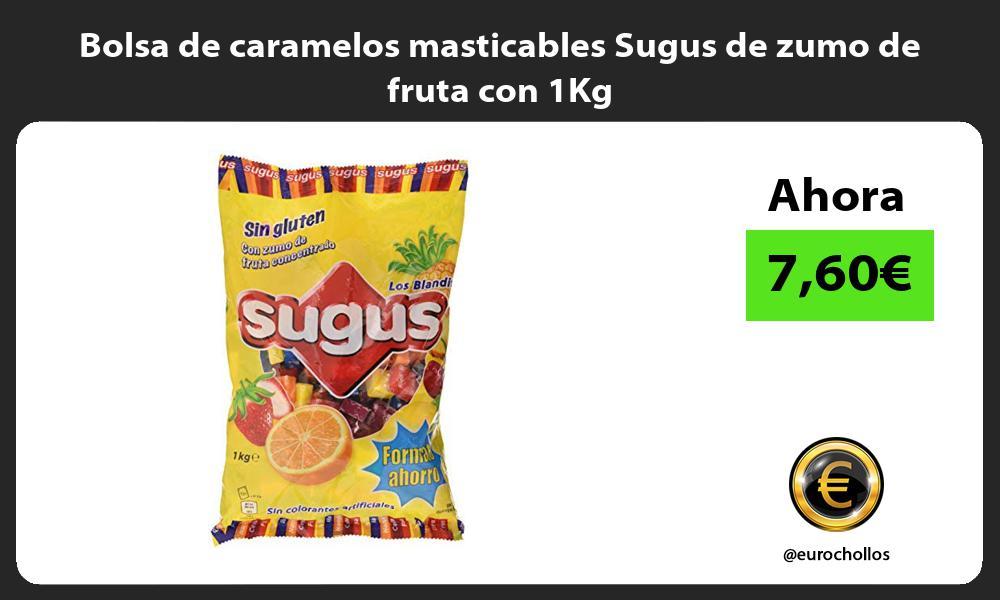 Bolsa de caramelos masticables Sugus de zumo de fruta con 1Kg