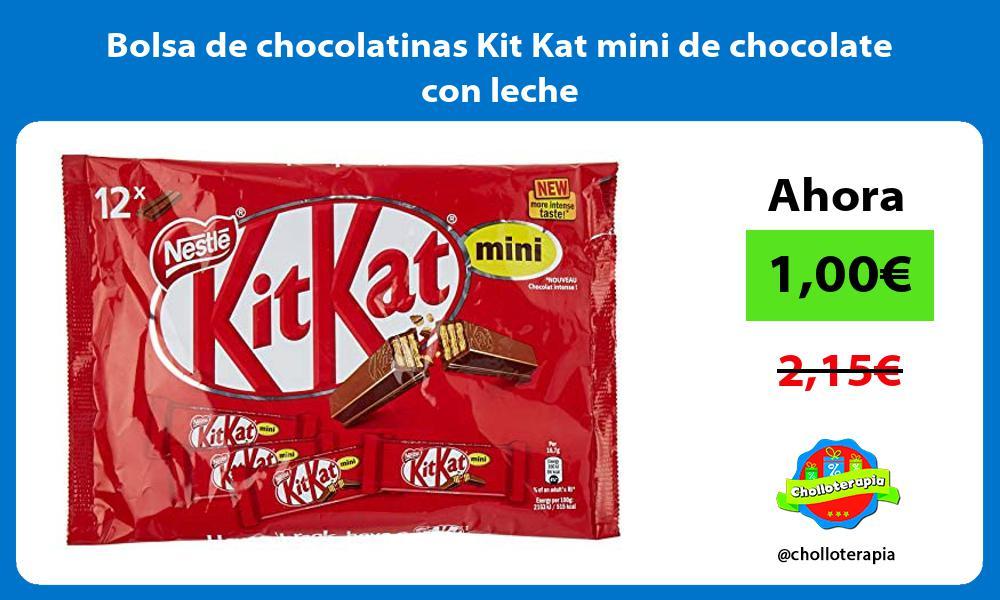 Bolsa de chocolatinas Kit Kat mini de chocolate con leche