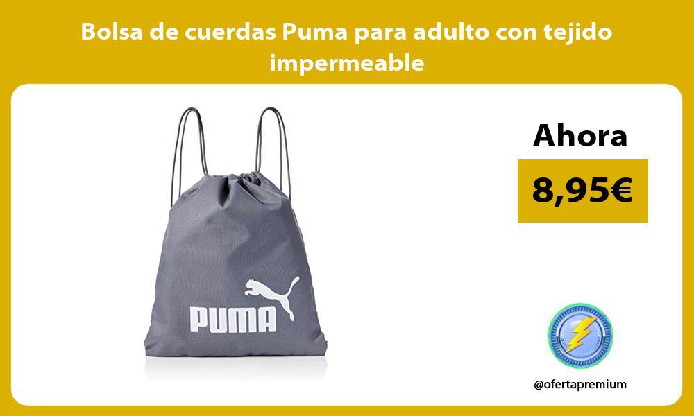 Bolsa de cuerdas Puma para adulto con tejido impermeable