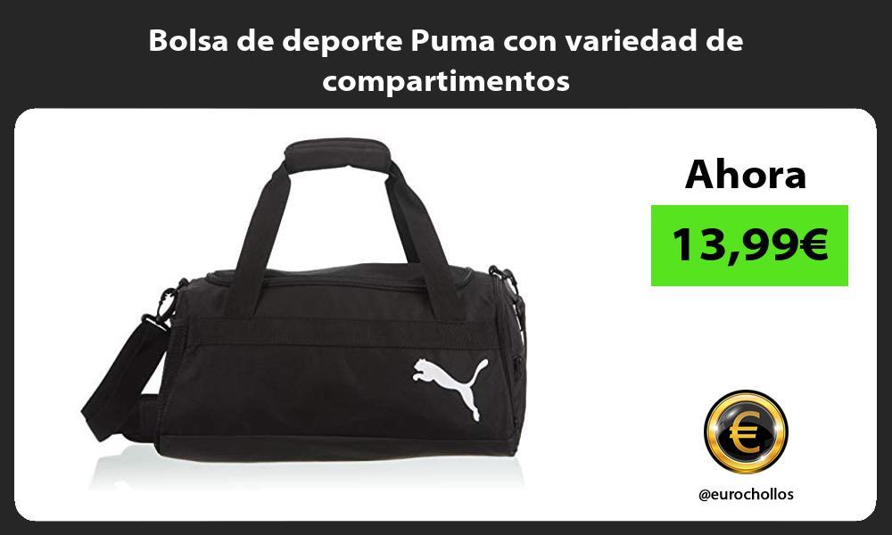 Bolsa de deporte Puma con variedad de compartimentos