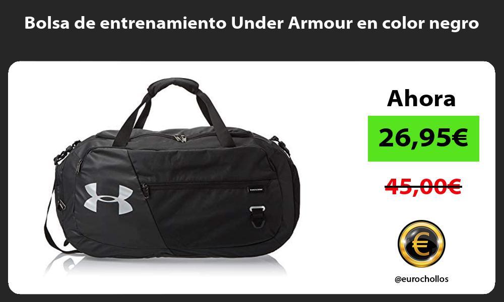 Bolsa de entrenamiento Under Armour en color negro