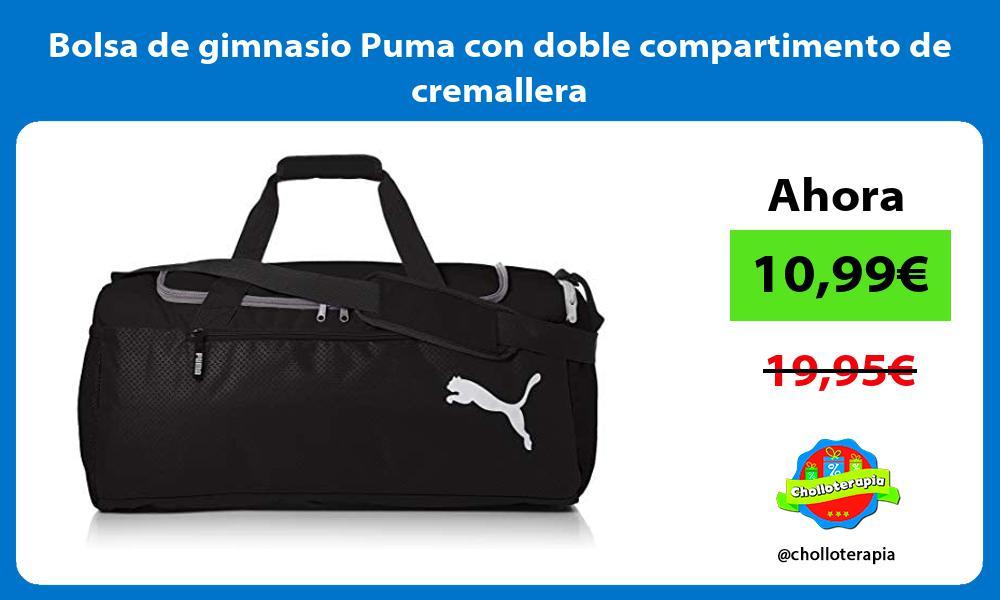 Bolsa de gimnasio Puma con doble compartimento de cremallera