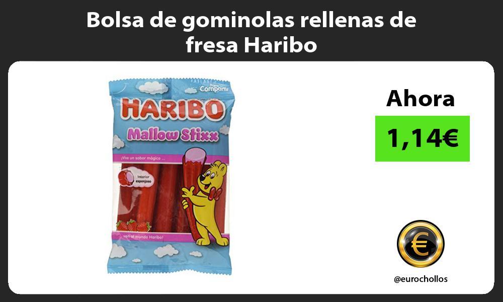 Bolsa de gominolas rellenas de fresa Haribo