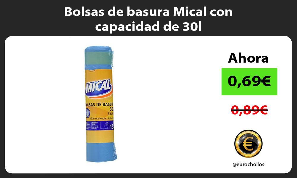 Bolsas de basura Mical con capacidad de 30l