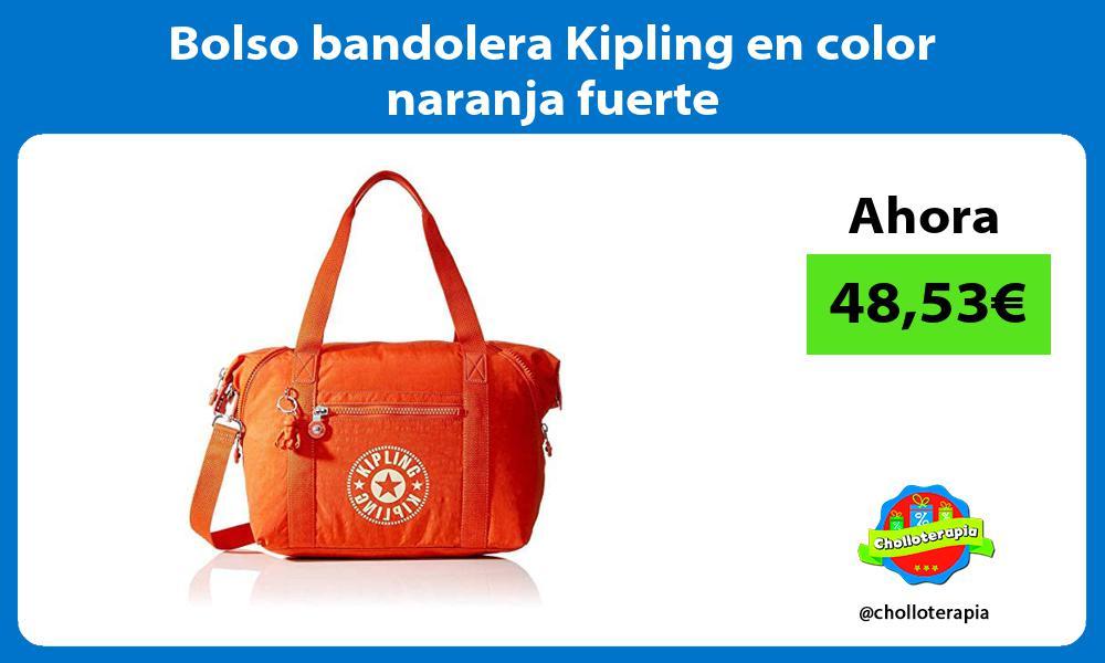 Bolso bandolera Kipling en color naranja fuerte