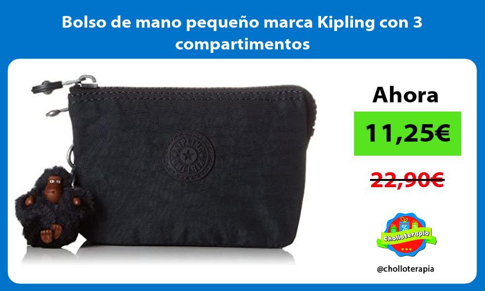 Bolso de mano pequeño marca Kipling con 3 compartimentos