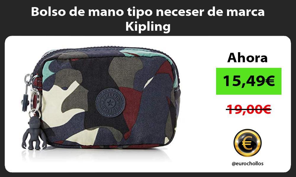 Bolso de mano tipo neceser de marca Kipling