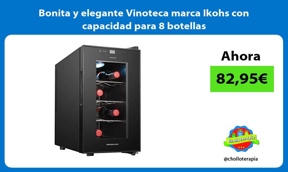 Bonita y elegante Vinoteca marca Ikohs con capacidad para 8 botellas