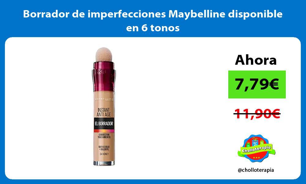 Borrador de imperfecciones Maybelline disponible en 6 tonos