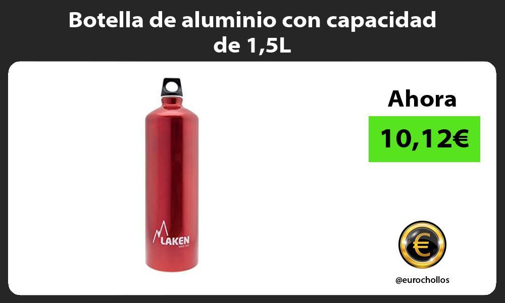 Botella de aluminio con capacidad de 15L