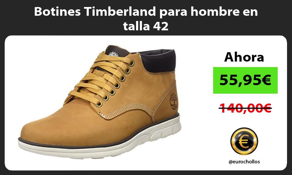 Botines Timberland para hombre en talla 42