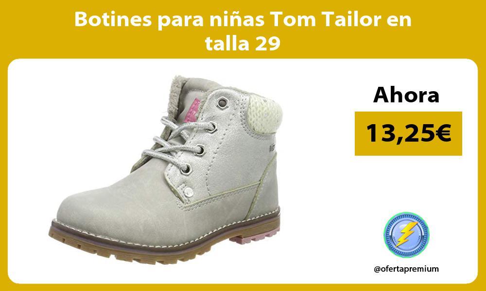 Botines para niñas Tom Tailor en talla 29