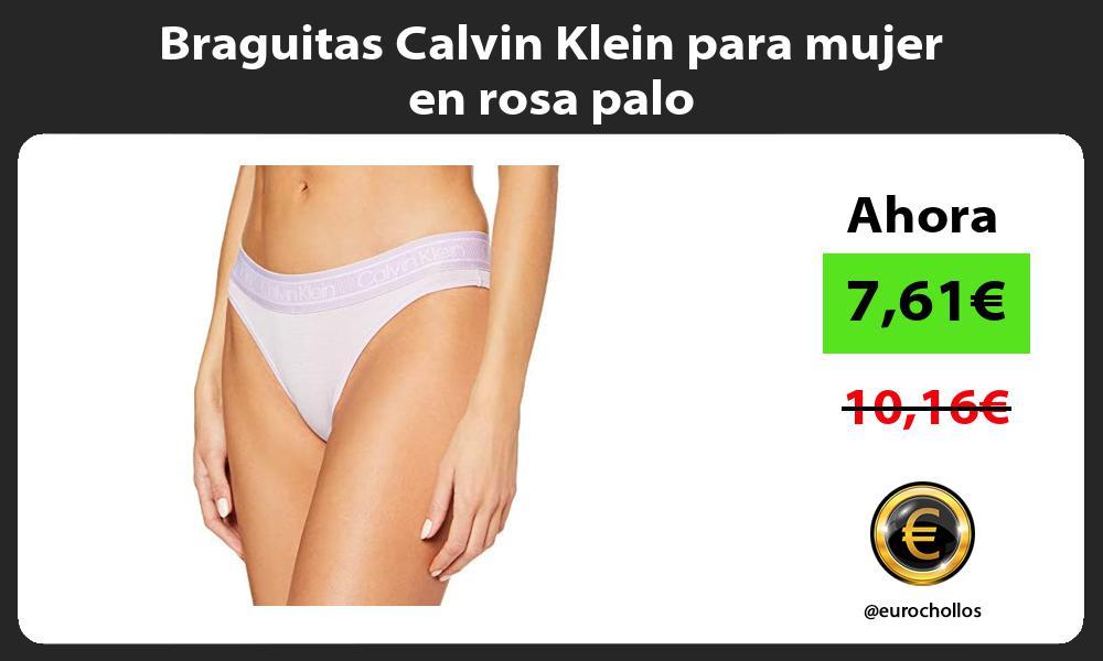 Braguitas Calvin Klein para mujer en rosa palo