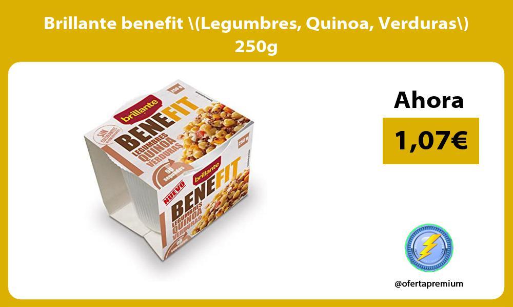 Brillante benefit Legumbres Quinoa Verduras 250g
