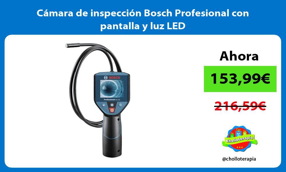 Cámara de inspección Bosch Profesional con pantalla y luz LED