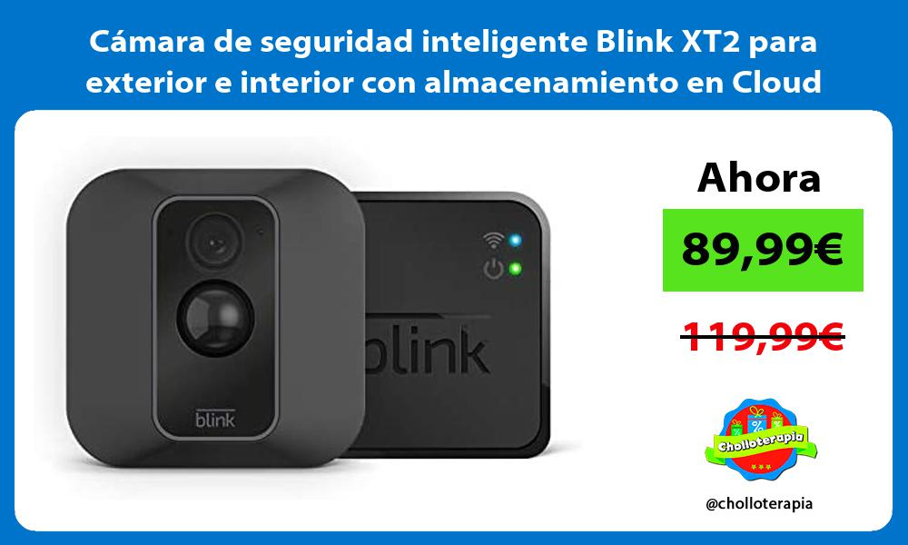 Cámara de seguridad inteligente Blink XT2 para exterior e interior con almacenamiento en Cloud