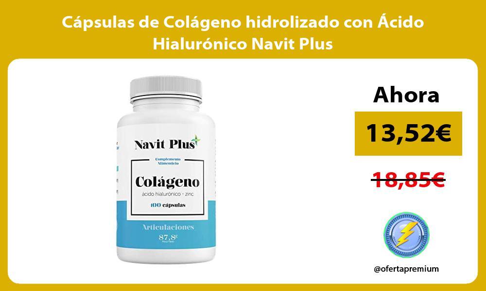 Cápsulas de Colágeno hidrolizado con Ácido Hialurónico Navit Plus