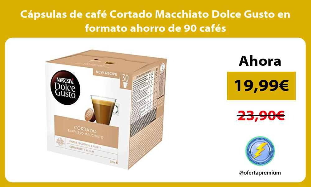 Cápsulas de café Cortado Macchiato Dolce Gusto en formato ahorro de 90 cafés