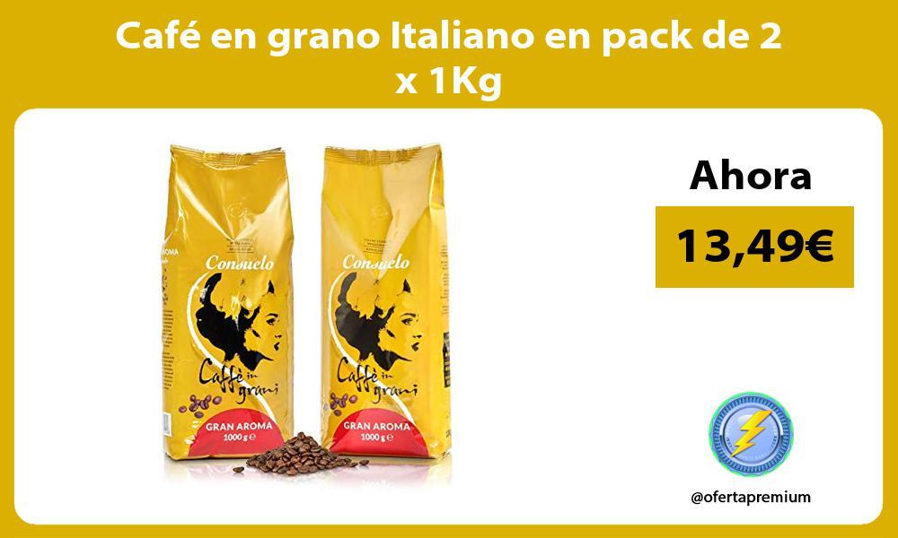 Café en grano Italiano en pack de 2 x 1Kg