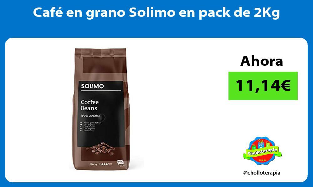 Café en grano Solimo en pack de 2Kg