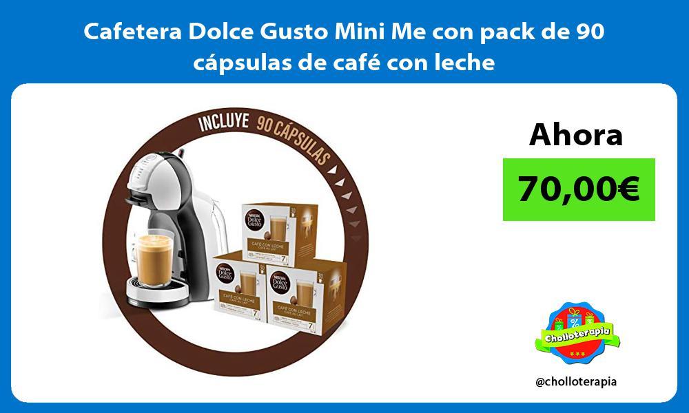 Cafetera Dolce Gusto Mini Me con pack de 90 cápsulas de café con leche