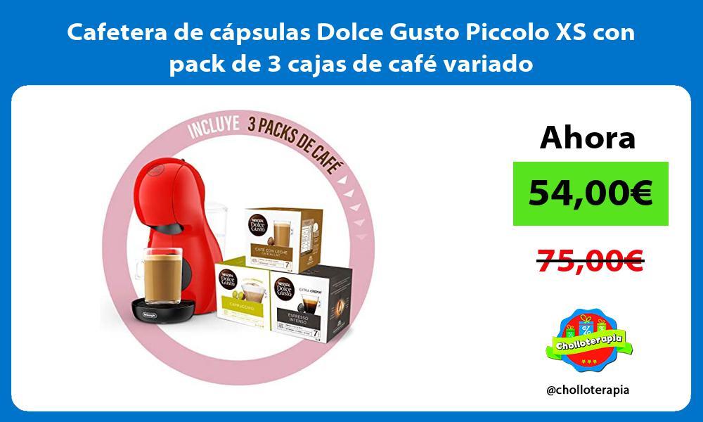 Cafetera de cápsulas Dolce Gusto Piccolo XS con pack de 3 cajas de café variado