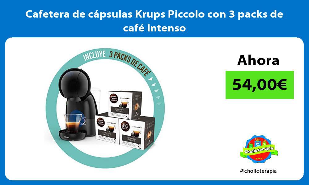 Cafetera de cápsulas Krups Piccolo con 3 packs de café Intenso