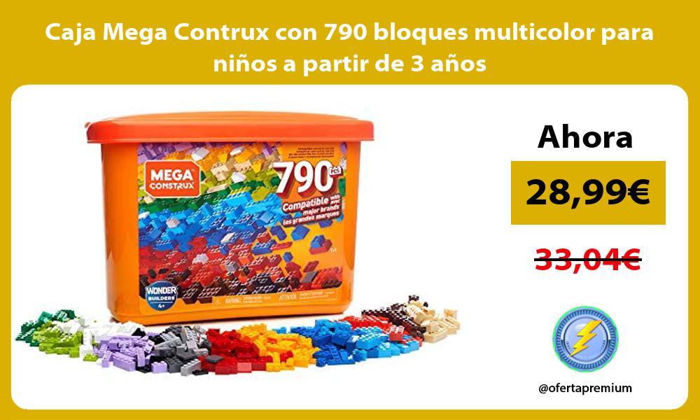 Caja Mega Contrux con 790 bloques multicolor para niños a partir de 3 años