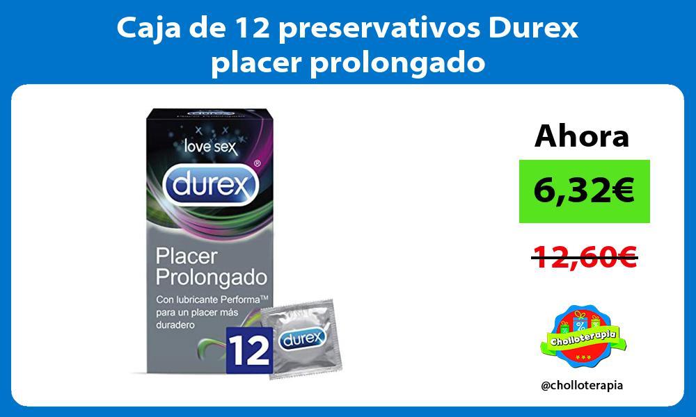 Caja de 12 preservativos Durex placer prolongado