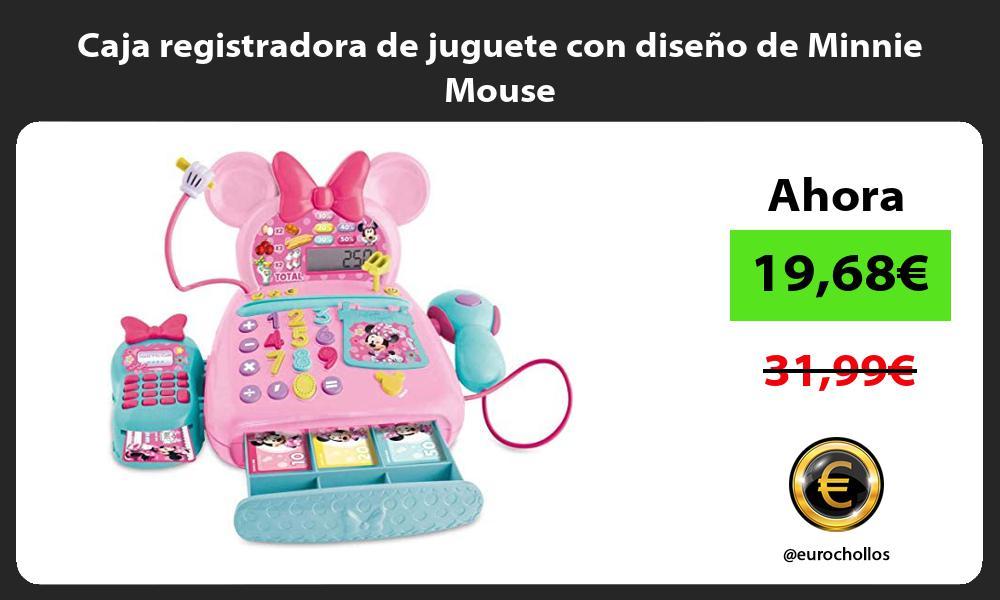 Caja registradora de juguete con diseño de Minnie Mouse