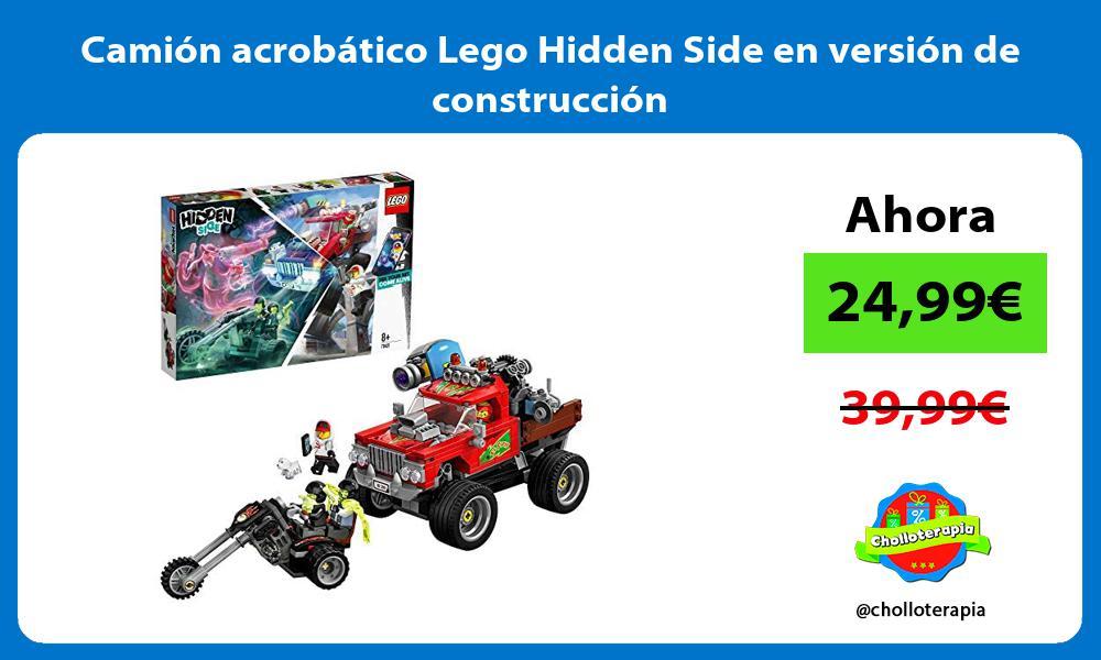 Camión acrobático Lego Hidden Side en versión de construcción