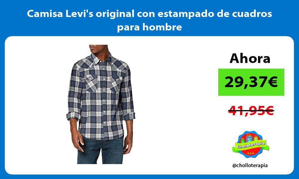Camisa Levis original con estampado de cuadros para hombre