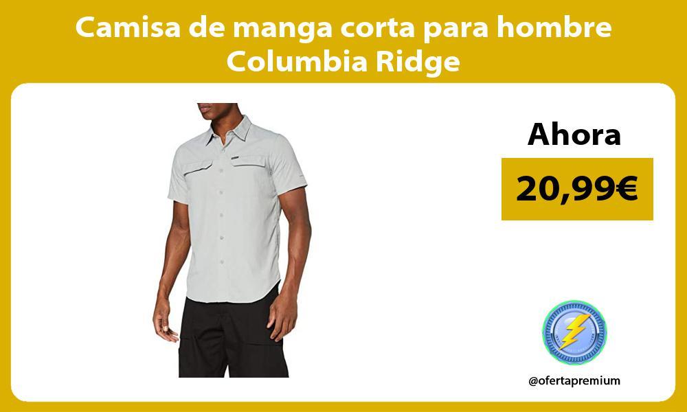 Camisa de manga corta para hombre Columbia Ridge
