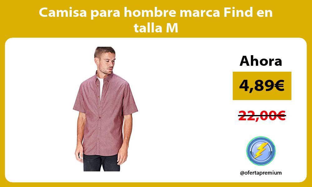 Camisa para hombre marca Find en talla M