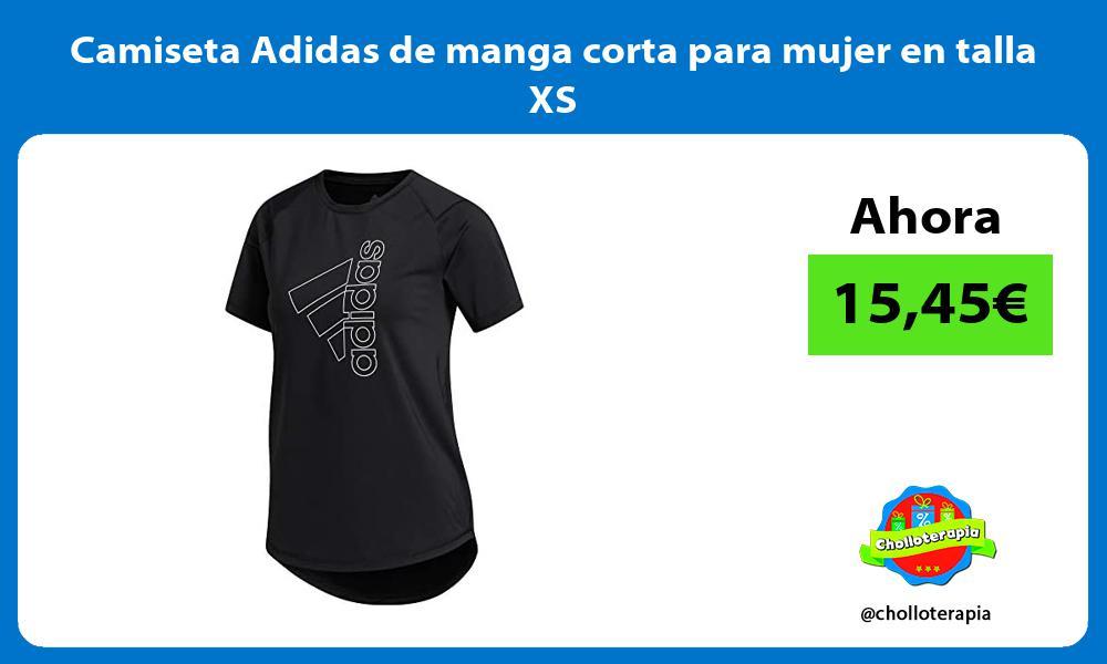 Camiseta Adidas de manga corta para mujer en talla XS