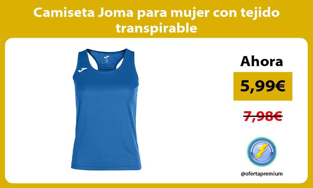 Camiseta Joma para mujer con tejido transpirable