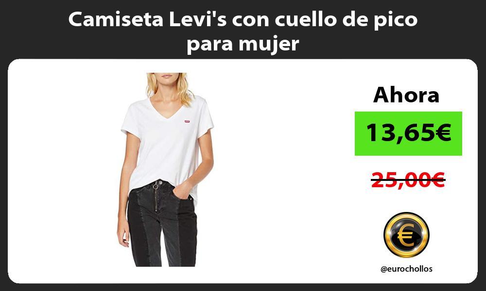 Camiseta Levis con cuello de pico para mujer