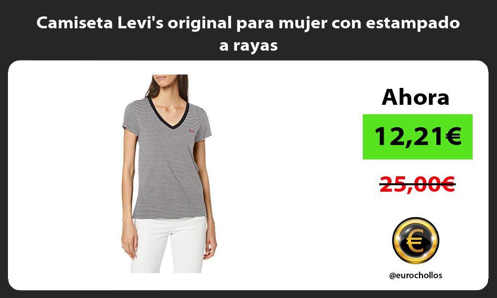 Camiseta Levis original para mujer con estampado a rayas