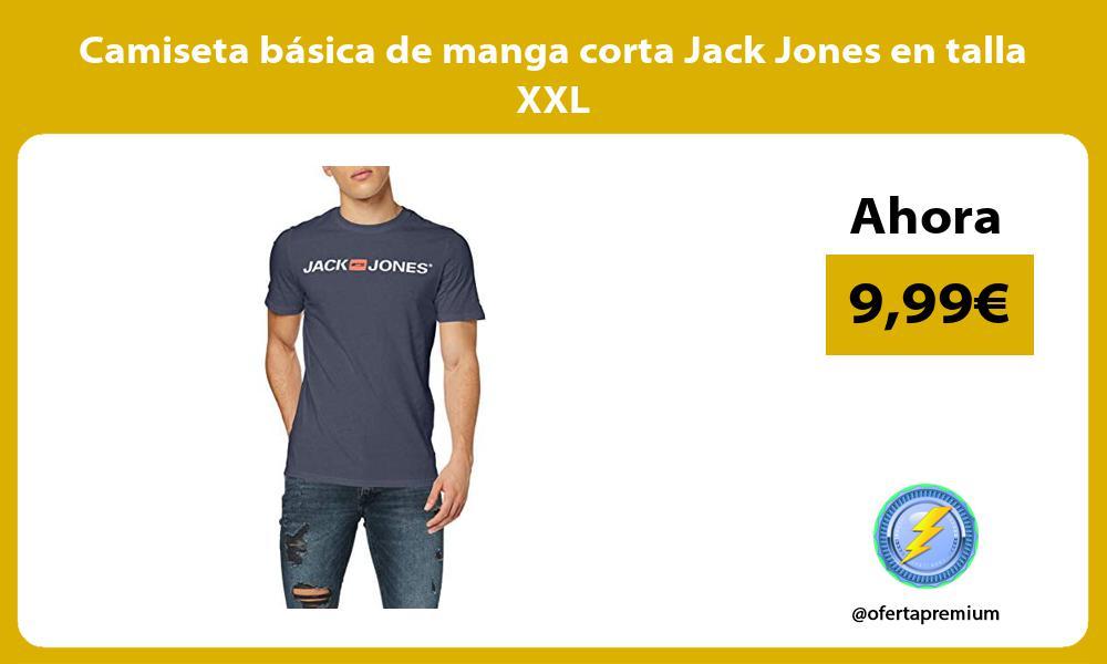 Camiseta básica de manga corta Jack Jones en talla XXL