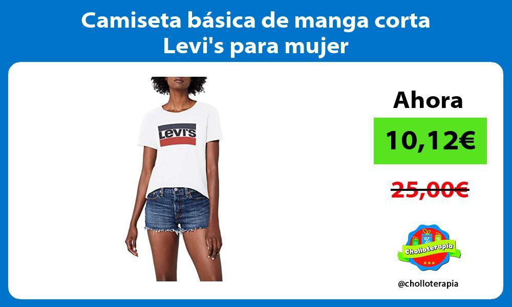 Camiseta básica de manga corta Levis para mujer