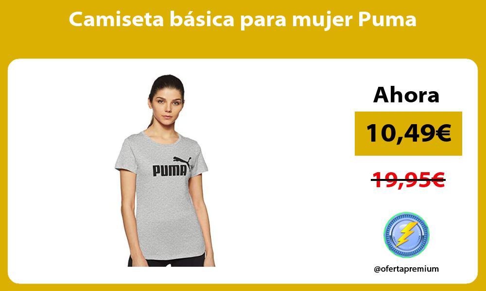 Camiseta básica para mujer Puma