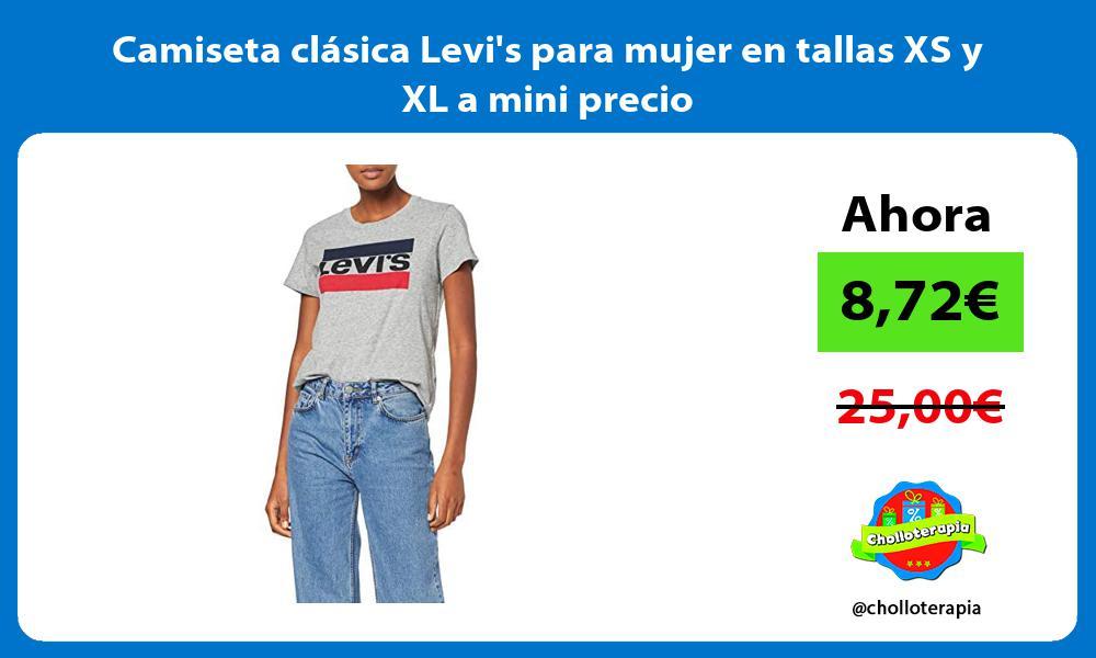 Camiseta clásica Levis para mujer en tallas XS y XL a mini precio