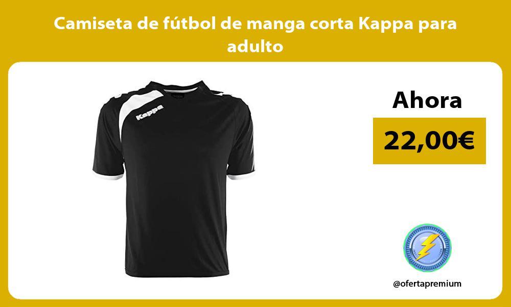 Camiseta de fútbol de manga corta Kappa para adulto