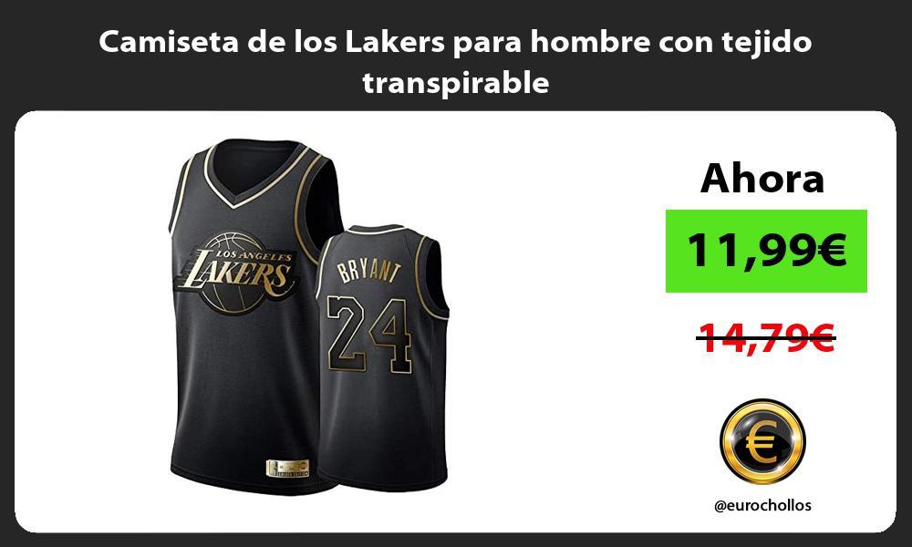 Camiseta de los Lakers para hombre con tejido transpirable