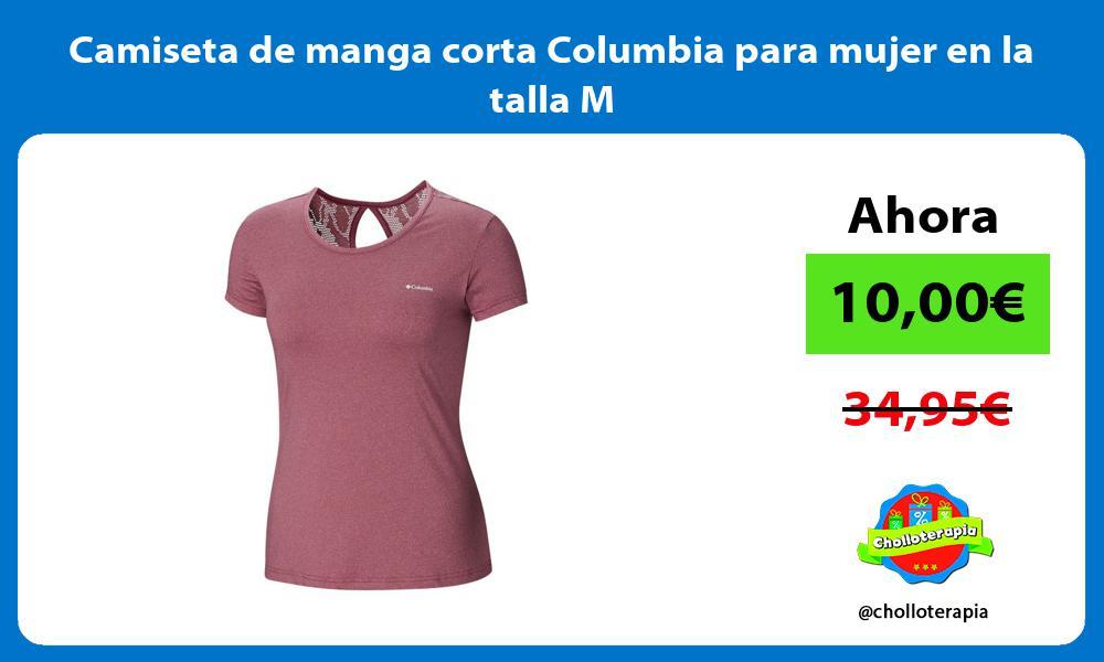 Camiseta de manga corta Columbia para mujer en la talla M