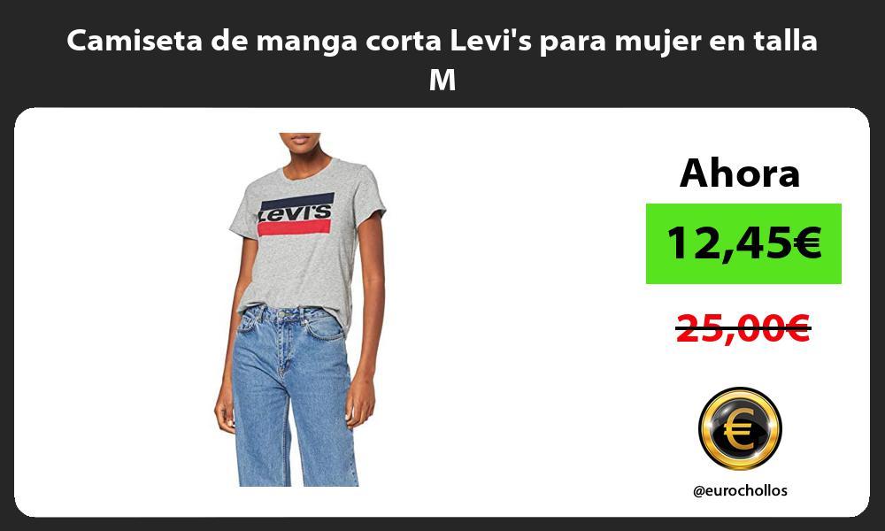 Camiseta de manga corta Levis para mujer en talla M