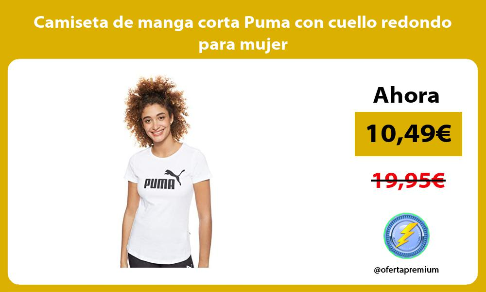 Camiseta de manga corta Puma con cuello redondo para mujer