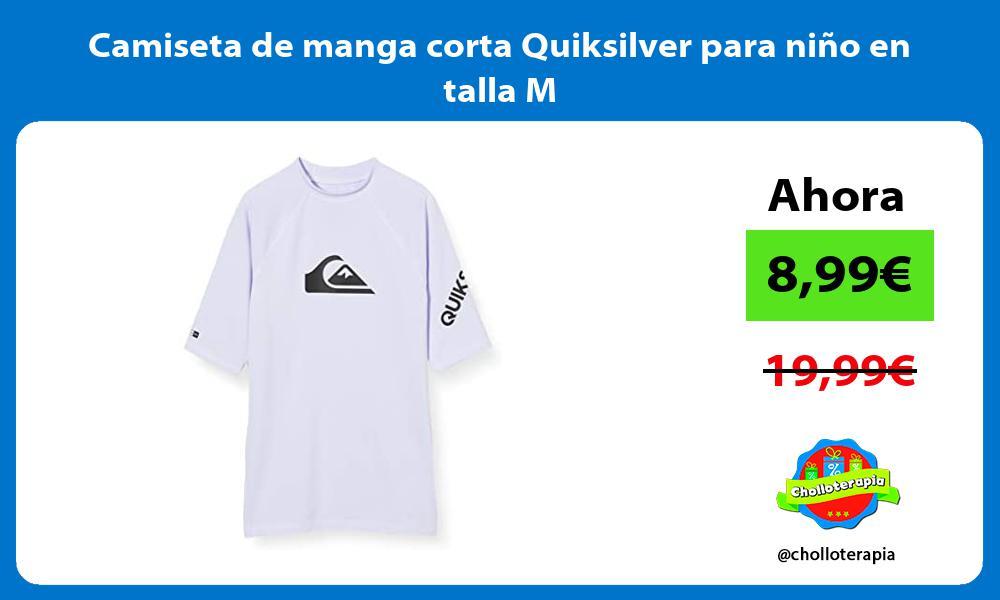 Camiseta de manga corta Quiksilver para niño en talla M