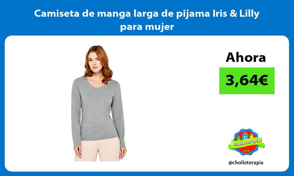 Camiseta de manga larga de pijama Iris Lilly para mujer